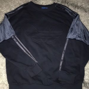 Adidas sweatshirt with velvet sleeve detail